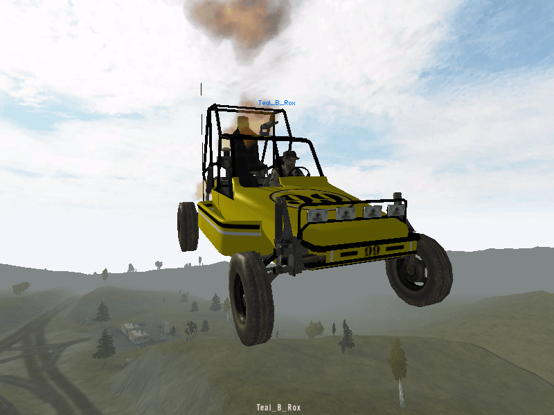 Getting some serious air using the jet engine booster.